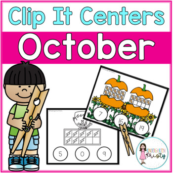 October Tens Frame Clip It Centers