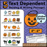 October Text Dependent Reading - Text Dependent Writing Prompts (Option 4)