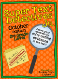 October Text Detectives Jr.- Text Evidence for 2nd Grade