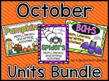 October Thematic Units BUNDLED