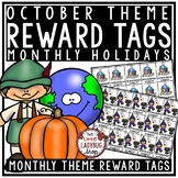 October Theme Brag Tags -Halloween, Columbus Day & Holiday