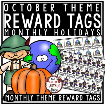 October Theme Brag Tags • Halloween • Columbus Day• Fire P
