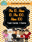 October Themed +10, -10, +100, -100 Task Cards & Game