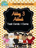 October Themed Adding 3 Addends Task Cards & Game