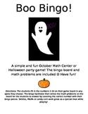 October Themed Addition Boo! Bingo