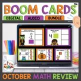 October Themed Math Boom Cards For Kindergarten