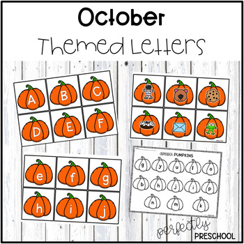 October Themed Letters