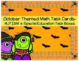 October Themed Math Task Cards- AUTISM and Special Educati