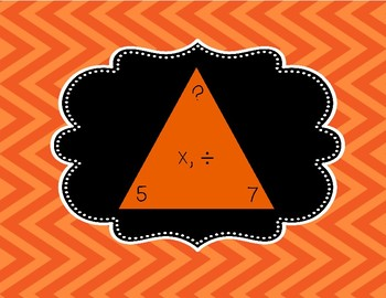 October Themed Multiplication Task Cards