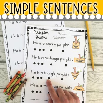 October Themed (Simple Predictable Sentences for Beginning Readers)