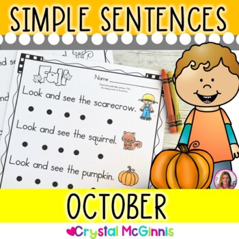 October Themed (Simple Predictable Sentences for Beginning