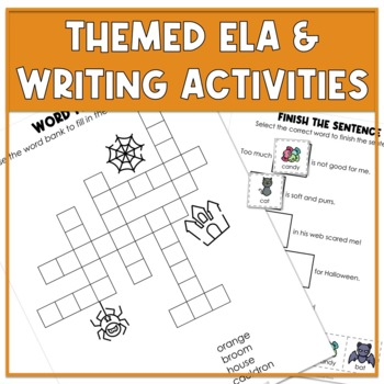 October Themed Adapted Unit for ELA, Writing & Math in Autism Units & Early Elem