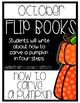 October Themed Writing Flip-Books {10 options!}