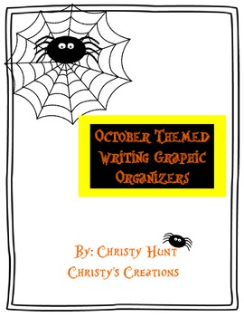 October Themed Writing Graphic Organizers