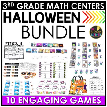 Halloween Third Grade Math Centers BUNDLE