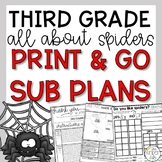 October Third Grade Spiders Emergency Sub Plans