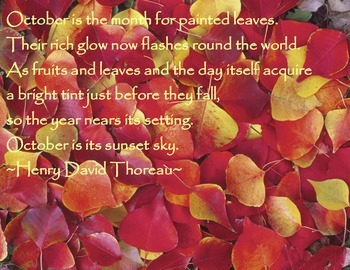 October Thoreau Quote Poster