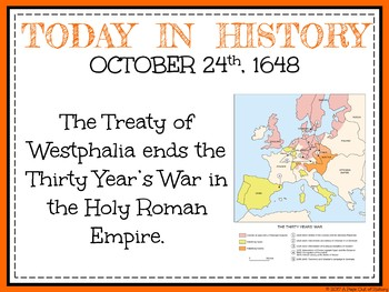 October Today in History Bell Ringers (EDITABLE)