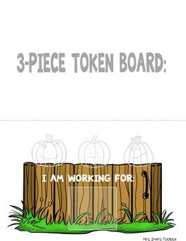 October Token Boards: Five Little Pumpkins!
