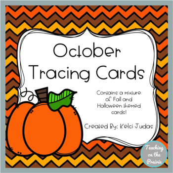 October Tracing Task Cards