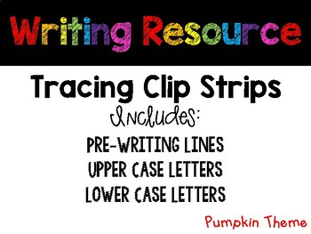 October Tracing Strips