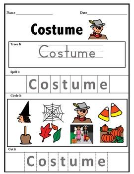 October Vocabulary Bundle