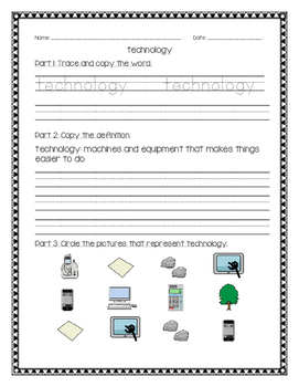 October Vocabulary Leveled Packet
