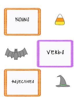 October Vocabulary Sort