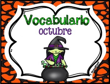 October Vocabulary-Spanish
