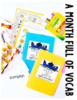 October Vocabulary Unit-  for Student's with Special Needs