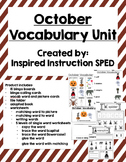 October Vocabulary Unit for Early Elementary or Students w