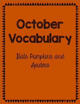 October Vocabulary Words