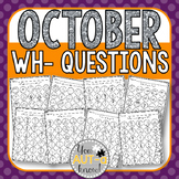 October WH- Question Dauber Pages