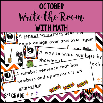 October WRITE THE ROOM with Math - 3rd Grade