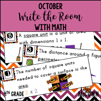 October WRITE THE ROOM with Math - 4th Grade