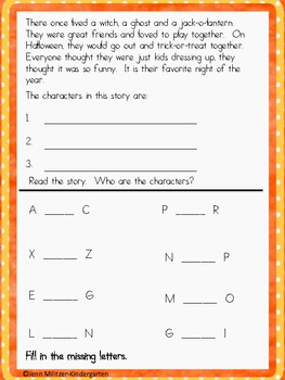 October Weekly Homework Common Core
