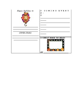 October Weekly Newsletter Template