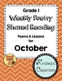 October Weekly Poetry and Shared Reading