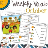 October Weekly Thematic Vocabulary Word Work