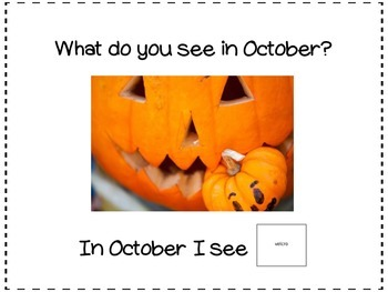 October, What Do You See? Matching and Sentence Completion Book for Vocabulary