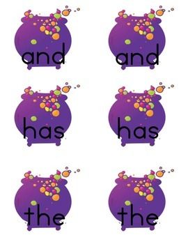 October - Witch Sight Word Game