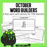 October Word Builders Freebie Pack!
