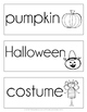 October Word Cards {October Vocabulary}