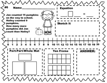 October Word Problems
