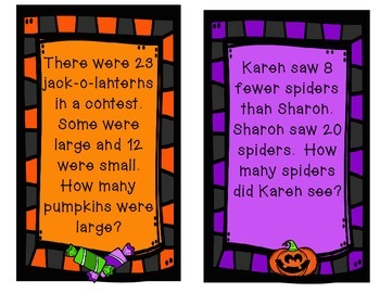 October Word Problems 2.OA.A.1