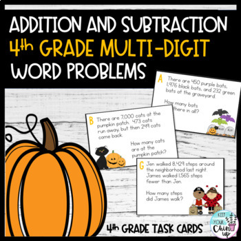 October Word Problems:  Multi-Digit Word Problems Using the Standard Algorithm