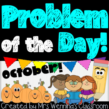 October Word Problems Pack & Math Interactive Notebook Act