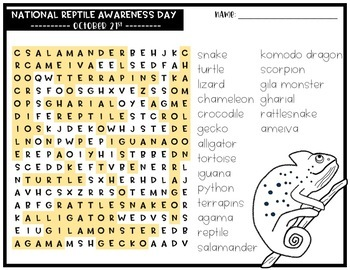 October Word Search Puzzles