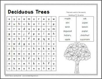 October Word Search Packet
