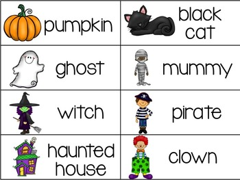 October Thematic Word Wall Words {80 Words for Halloween, Fire Safety, & More!}